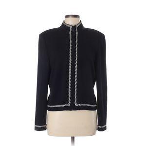 St. John Collection Black White Jacket Zip Size 12